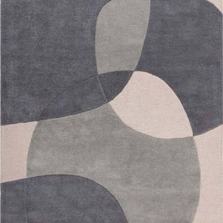 Šedý vlněný koberec Flair Rugs Glow, 160 x 230 cm