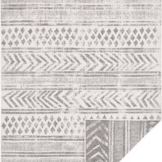 Šedo-krémový venkovní koberec Bougari Biri, 120 x 170 cm