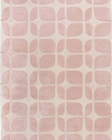 Růžový koberec Flair Rugs Mesh, 160 x 230 cm