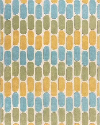 Žluto-zelený vlněný koberec Flair Rugs Fossil, 160 x 230 cm
