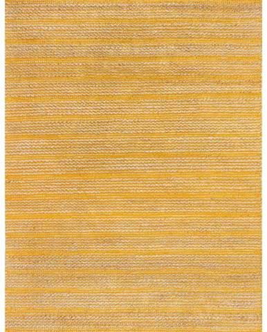 Žlutý jutový koberec Flair Rugs Equinox, 160 x 230 cm