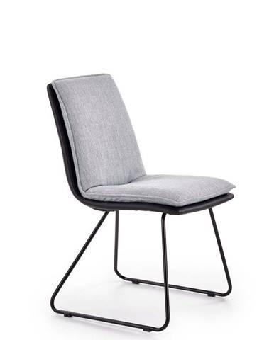Halmar Jídelní židle K326 šedá/černá