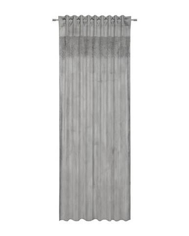 Hotový Závěs Strasssteine, 135/245cm, Šedá