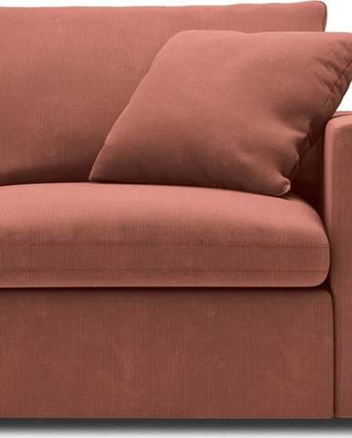 Růžová rohová část modulární pohovky Windsor & Co Sofas Galaxy, pravý roh