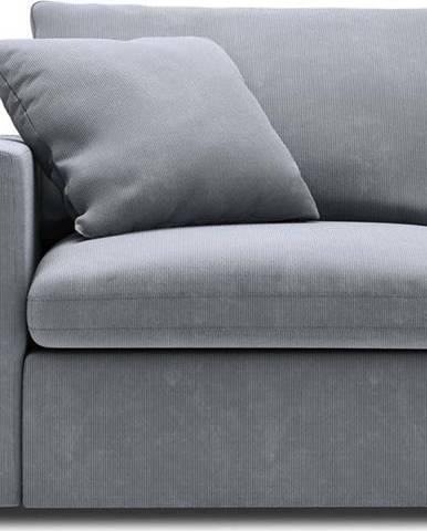 Šedá rohová část modulární pohovky Windsor & Co Sofas Galaxy, levý roh