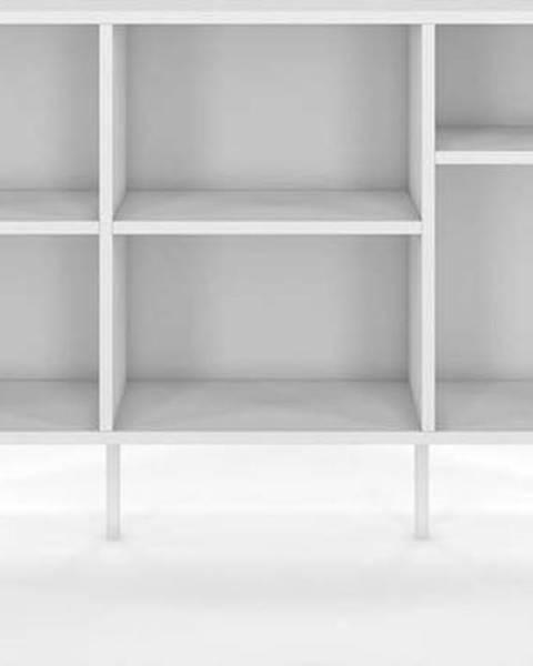 SKANDICA Bílá nízká knihovna Skandica Mirka