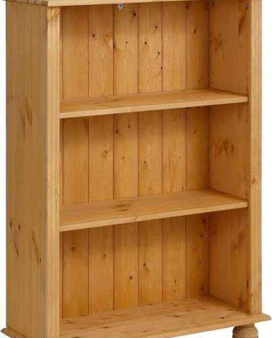 Nízká hnědá knihovna z masivního borovicového dřeva Støraa Ella