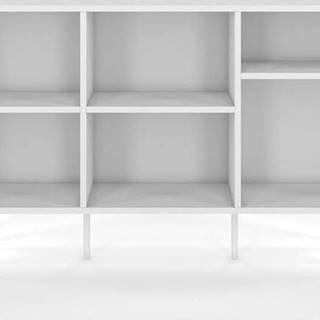 Bílá nízká knihovna Skandica Mirka