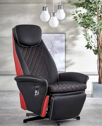 Relaxační křeslo CAMARO, černá/červená