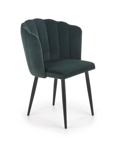 Jídelní židle K-386, tmavě zelená