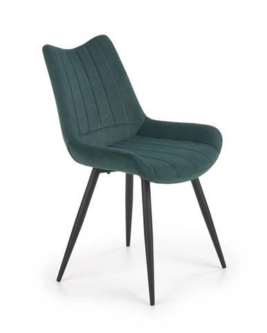 Jídelní židle K-388, tmavě zelená