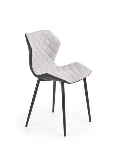 Jídelní židle K-389, světle šedá/černá