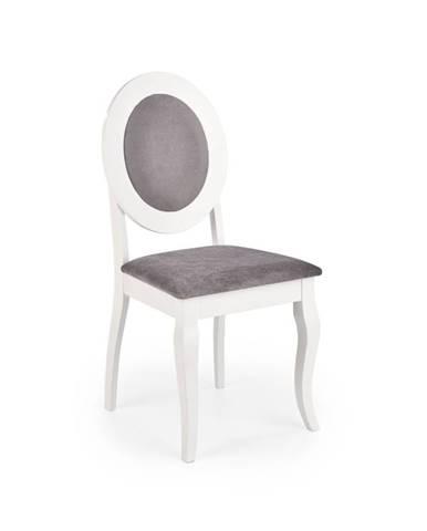 Židle BAROCK, šedá/bílá