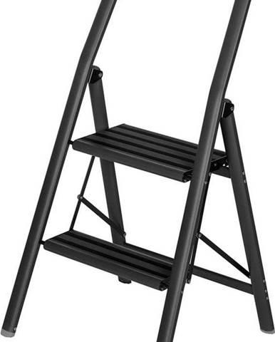 Černé schůdky Wenko Compact, výška 91,5 cm