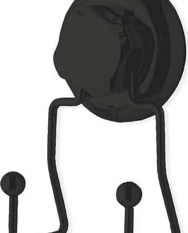 Černý samodržící nástěnný dvojitý háček Compactor Bestlock Black