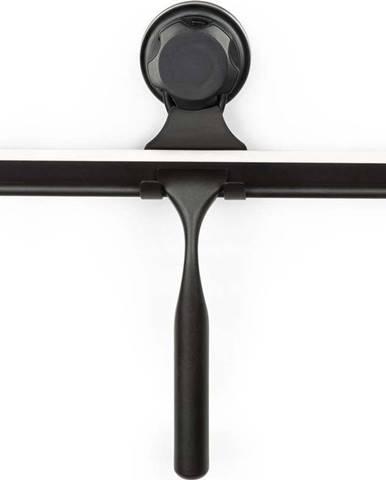Černá samodržící nástěnná stěrka na sklo s držákem Compactor Bestlock Black Double Hook Squeegee