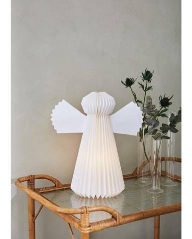 Bílá vánoční světelná dekorace Markslöjd Angel,výška40cm