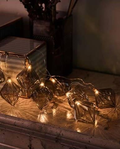Světelný LED řetěz Sirius Nellie Grey, délka 180 cm