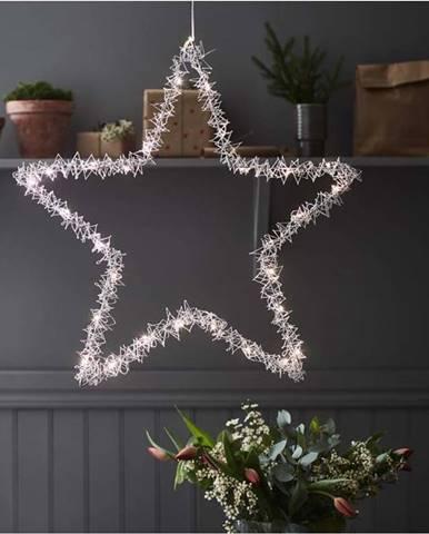 Vánoční závěsná světelná dekorace Markslöjd Tangle Star,výška60 cm