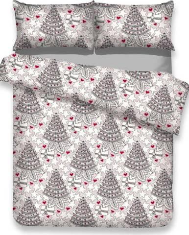 Flanelové povlečení s vánočním motivem na dvoulůžko AmeliaHome Merry, 200 x 220 cm