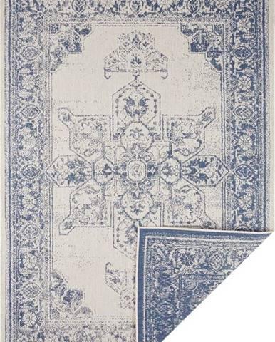Modro-krémový venkovní koberec Bougari Borbon, 120 x 170 cm