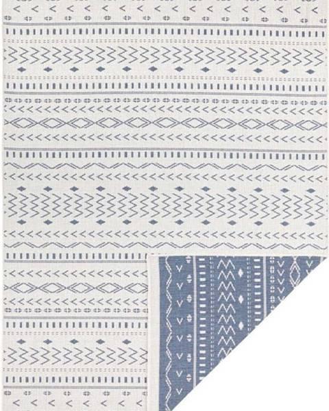 Bougari Modro-krémový venkovní koberec Bougari Kuba, 290 x 200 cm