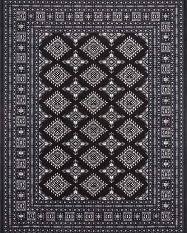 Černý koberec Nouristan Sao Buchara, 80 x 150 cm