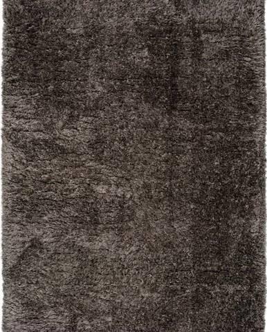Tmavě šedý koberec Universal Floki Liso, 140 x 200 cm