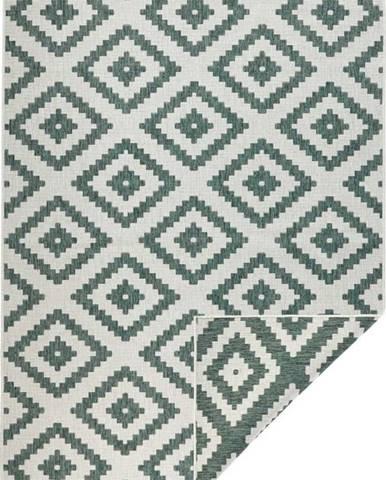 Zeleno-krémový venkovní koberec Bougari Malta, 120x170 cm