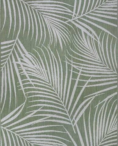 Zelený venkovní koberec Ragami Flora, 120 x 170 cm