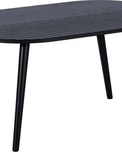 Le Bonom Černý oválný konferenční stolek Le Bonom Leo