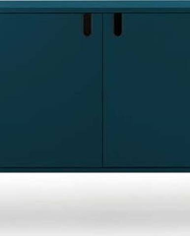 Petrolejově modrá komoda Tenzo Uno, šířka 148cm