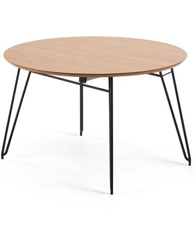 Rozkládací jídelní stůl s deskou v dubovém dekoru La Forma Novaks, ø 120 cm