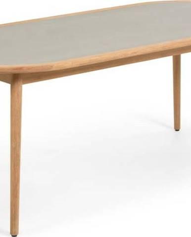 Zahradní jídelní stůl z eukalyptového dřeva s betonovou deskou La Forma Glynis