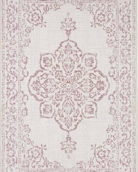 Bougari Červeno-krémový venkovní koberec Bougari Tilos, 200 x 290 cm
