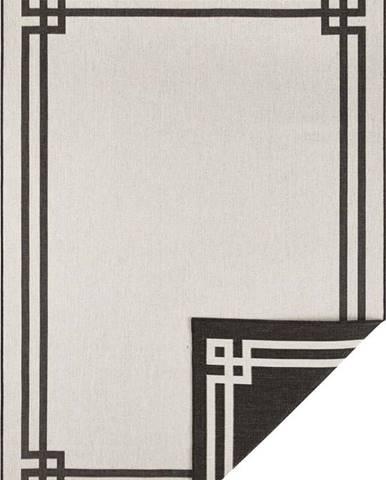 Černo-krémový venkovní koberec Bougari Manito, 80 x 150 cm