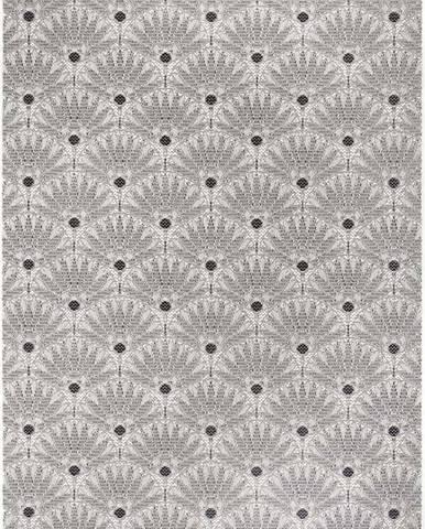 Černo-šedý venkovní koberec Ragami Amsterdam, 200 x 290 cm