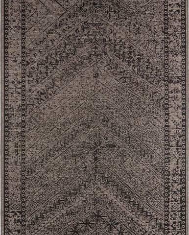 Hnědo-černý venkovní koberec Bougari Mardin, 200 x 290 cm
