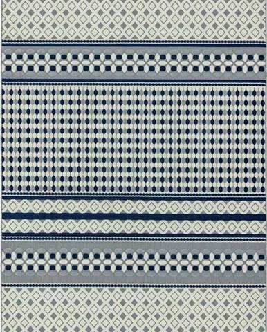 Modro-bílý koberec Asiatic Carpets Antibes Geometric, 80 x 150 cm