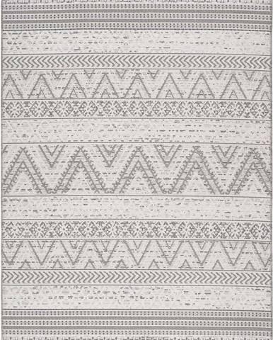 Šedý venkovní koberec Universal Weave Geo, 155 x 230 cm