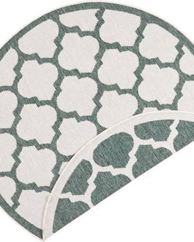 Zeleno-krémový venkovní koberec Bougari Palermo, ⌀ 200 cm