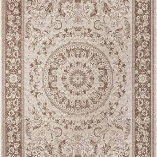 Hnědo-béžový venkovní koberec Ragami Prague, 80 x 150 cm