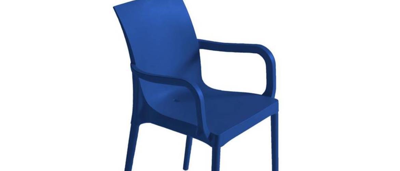 Plastová Židle S Područkami Eset Modrá