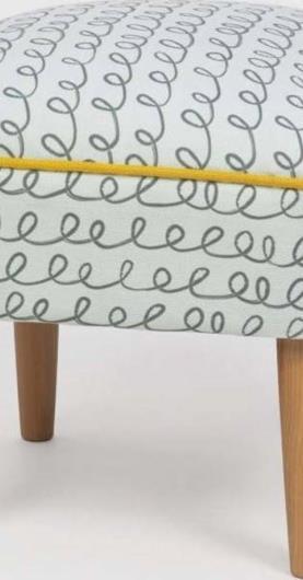Taburet s dřevěnými nohami Damo Sway, 45x45cm